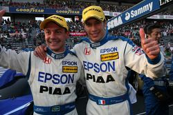 GT500 and overall winners Loic Duval and Fabio Carbone