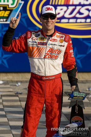 Victory lane: race winner Kevin Harvick