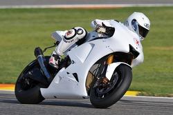 250cc-kampioen Jorge Lorenzo test de Yamaha YZR-M1 voor het eerst