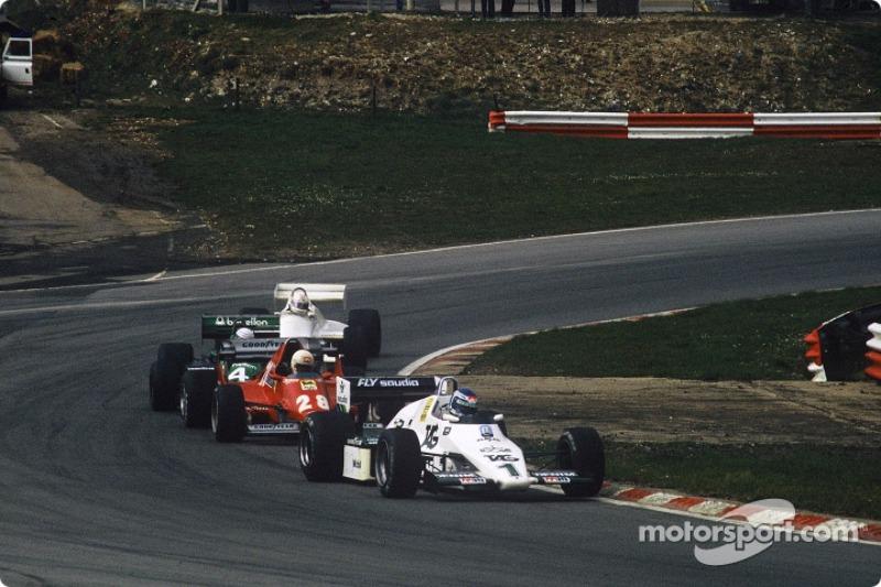 Keke Rosberg, Ren�� Arnoux, Danny Sullivan ve Alan Jones