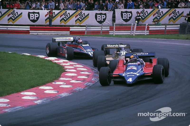 Derek Daly leads Jochen Mass and Mario Andretti