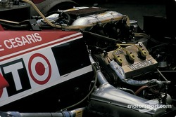 Back of De Cesaris' Ligier Renault
