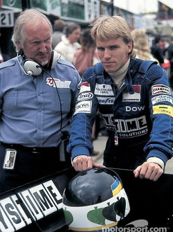 Stefan Johansson met Tyrrell ontwerper Maurice Philippe