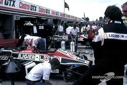 Ligier pit area