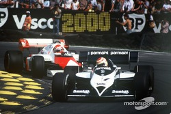 Nelson Piquet voor Niki Lauda