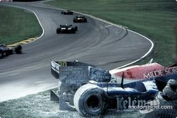 Wreck of Jo Gartner' Osella-Alfa Romeo FA1F