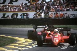 Rene Arnoux, Ferrari 126C4, Michele Alboreto, Ferrari 126C4