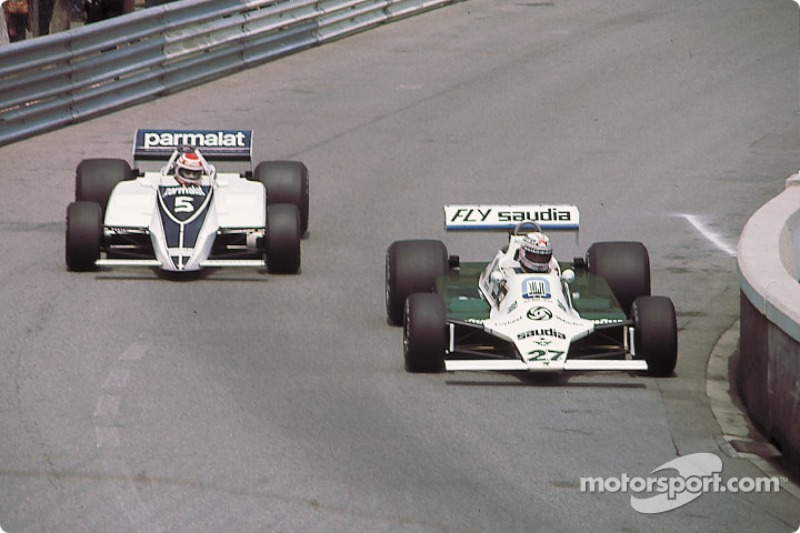 1980 - Alan Jones (Williams) y Nelson Piquet (Brabham)