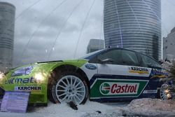 World Rally Championship and Cross-country rallies cars displayed at La Défense, in Paris