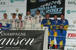 LMP1 podium: class and overall winners Marc Gene and Nicolas Minassian, second place Pedro Lamy and