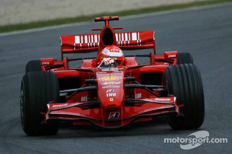 Michael Schumacher, Test Pilotu, Scuderia Ferrari, F2007, test ediyorFerrari F2007