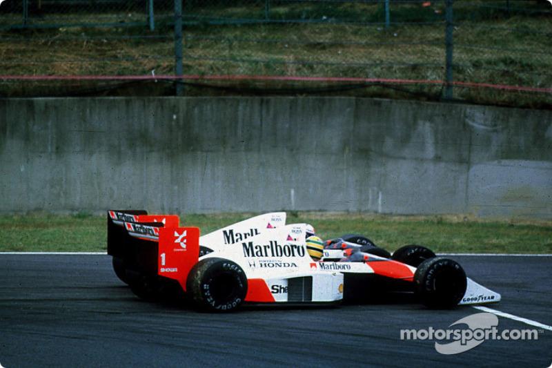 Ayrton Senna ve Alain Prost'un ünlü kazası