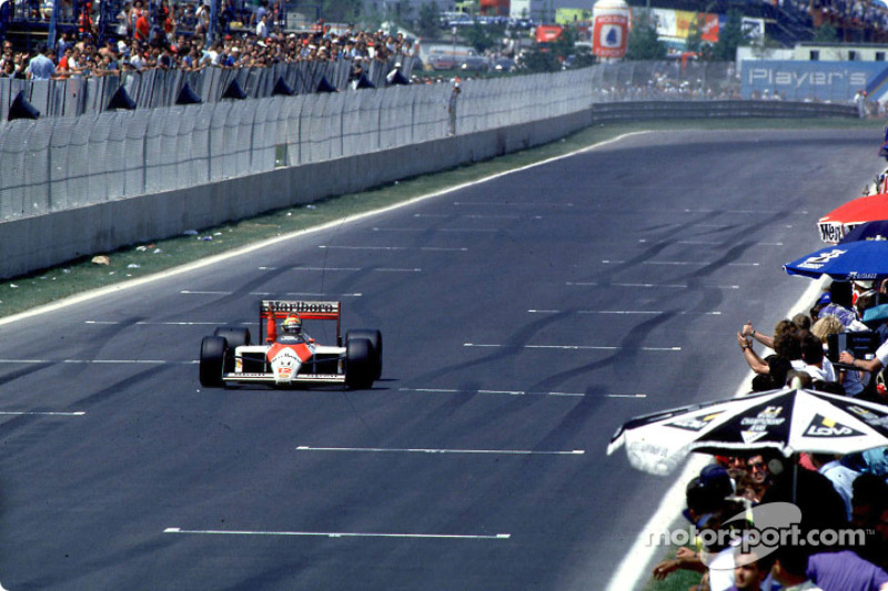 13. Cuando conquistó el título, Senna tenía el mayor número de victorias en una sola temporada, superando al Prost de 1984 y al Clark de 1963, con siete cada uno. Actualmente el récord lo comparten Sebastian Vettel (2013) y Michael Schumacher (2004), con 13.