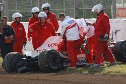Franck Montagny, Test Pilotu, Toyota F1 Team, TF107, kazaed
