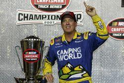 Championship victory lane: 2007 NASCAR Craftsman Truck Series champion Ron Hornaday