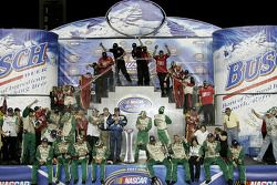 Championship victory lane: 2007 NASCAR Busch Series owner championship winner Richard Childress cele