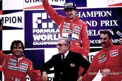 Podium: 1. Ayrton Senna, 2. Alain Prost, 3. Nigel Mansell
