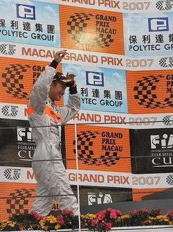 Kodai Tsukakoshi on the podium