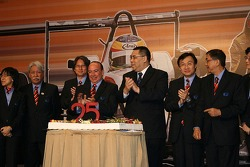Grand Prix committee with cake