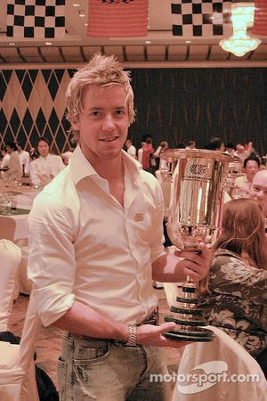 Sam Bird with a trophy (hoping he'll get one next year)