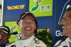 Andy Priaulx just after winning the WTCC for the third time
