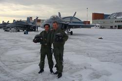 Mario Dominguez with Captain Paul