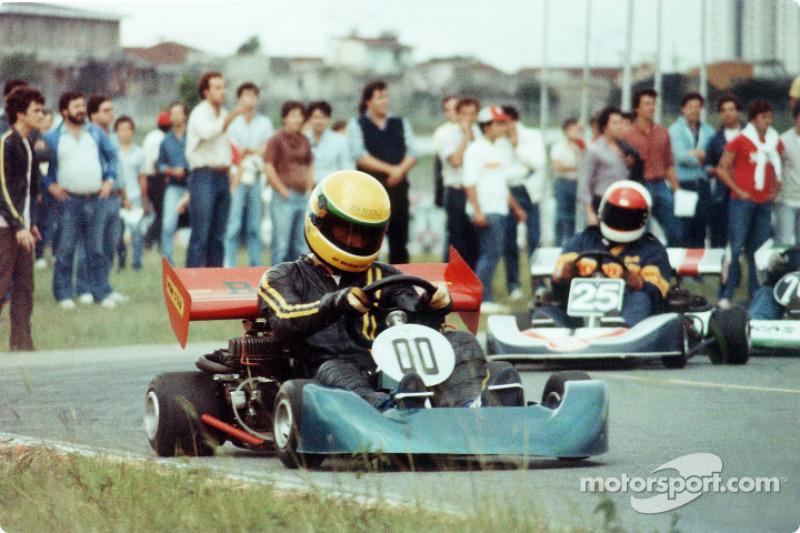 Ayrton Senna no kart