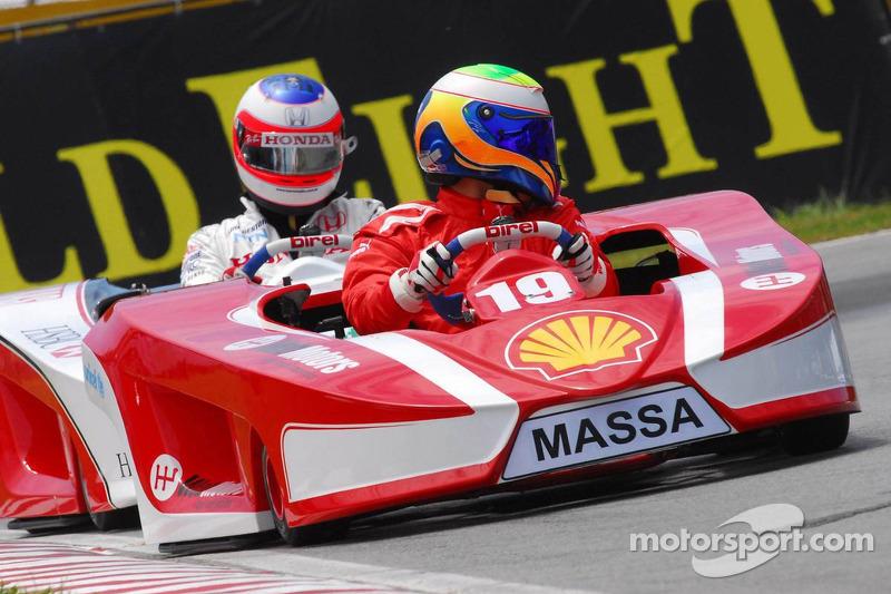 Felipe Massa et Rubens Barrichello