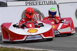 Michael Schumacher et Felipe Massa