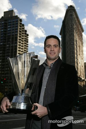 Jimmie Johnson, the 2007 NASCAR Nextel Cup Series Champion during a New York City Landmark Tour