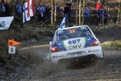 Stepan Vojtech et Michal Ernst, OMV Bixxol Rally Team Mitsubishi Lancer Evo IX
