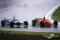 Jacques Villeneuve and Michael Schumacher