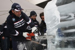 Ice Carving, Jorg Muller, BMW Team Germany, BMW 320si WTCC
