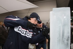 Ice Carving, Robert Kubica, BMW Sauber F1 Team
