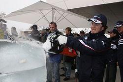 Ice carving, Felix Porteiro, BMW Team Italy-Spain, BMW 320si WTCC