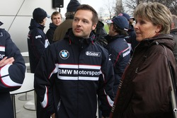 Andy Priaulx, BMW Team UK, and the wife of Dr. Mario Theissen, BMW Sauber F1 Team, BMW Motorsport Di