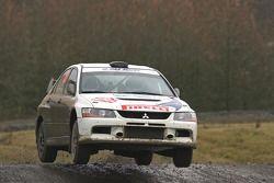 Alessandro Bettega and Simone Scattolin, Mitsubishi Lancer Evolution IX