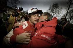 2007 World Rally Champion Sébastien Loeb celebrates