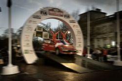 Podium: 2007 World Rally Champions Sébastien Loeb and Daniel Elena celebrate