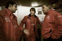 Sébastien Loeb, Daniel Elena and Guy Fréquelin