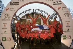 Podium: 2007 World Rally Champions Sébastien Loeb and Daniel Elena celebrate with Citroen Total WRT
