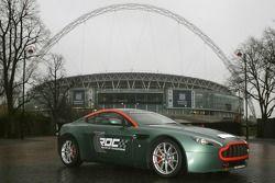 Aston Martin V8 Rally outside the new Wembley Stadium