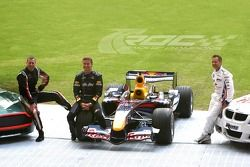 Colin McRae, David Coulthard en Andy Priaulx