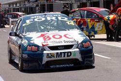 Simon Wills heads down pit lane