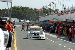Owen Kelly down pit lane