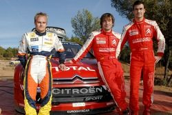 Heikki Kovalainen, Daniel Sordo et Sébastien Loeb