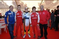 Daniel Sordo, Heikki Kovalainen et Sébastien Loeb