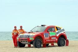 Repsol Mitsubishi Ralliart Team: Stephane Peterhansel and Jean-Paul Cottret