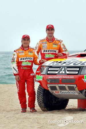Repsol Mitsubishi Ralliart Team: Luc Alphand y Gilles Picard
