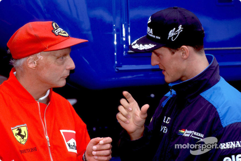 Niki Lauda y Michael Schumacher